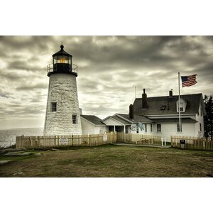 'The Light at Pemaquid Point Lighthouse' Photographic Print on Canvas by Buy Art For Less