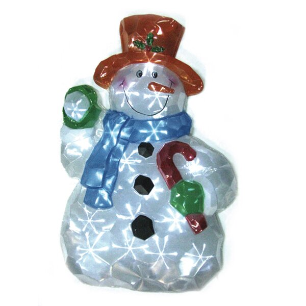 LED Icy Snowman Lawn Silhouette Christmas Decoration by Brite Star