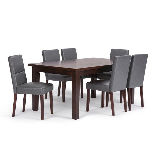 Oaklynn 7 Piece Solid Wood Dining Set by Brayden Studio