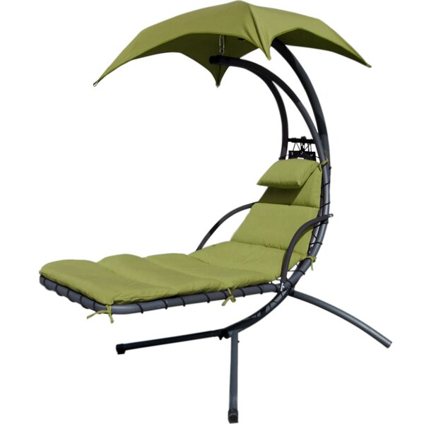 Weathers Hammock Hanging Chaise Lounger with Stand by Latitude Run