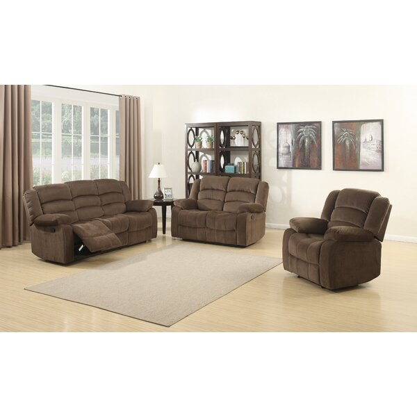 Kunkle Reclining 3 Piece Living Room Set by Red Barrel Studio