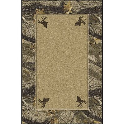 Realtree Hardwoods Solid Center Area Rug by Milliken