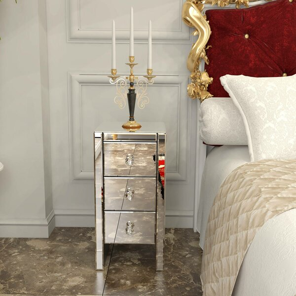 Whitlatch 3 Drawer Nightstand by Rosdorf Park