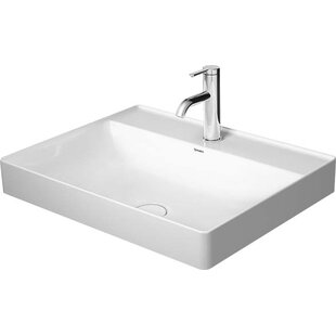 Check Prices Ceramic Rectangular Vessel Bathroom Sink By Duravit