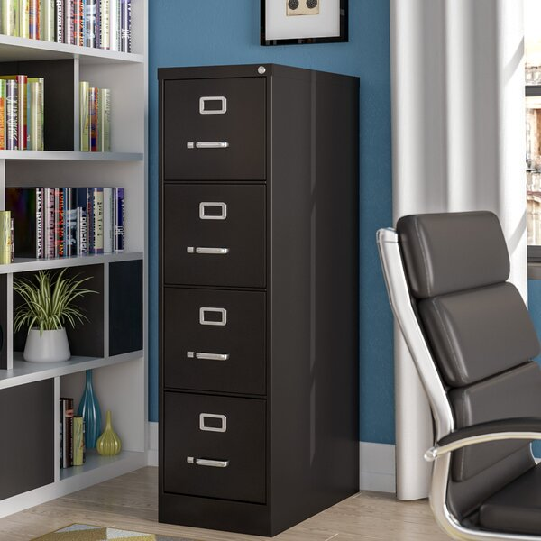 Jolene 4 Drawer Commercial Letter Size Vertical Filing Cabinet by Symple Stuff