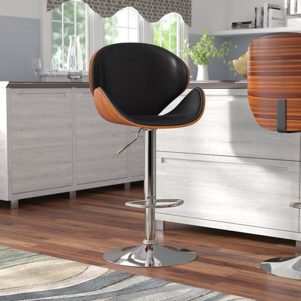 Catina Adjustable Height Swivel Bar Stool by Wade Logan