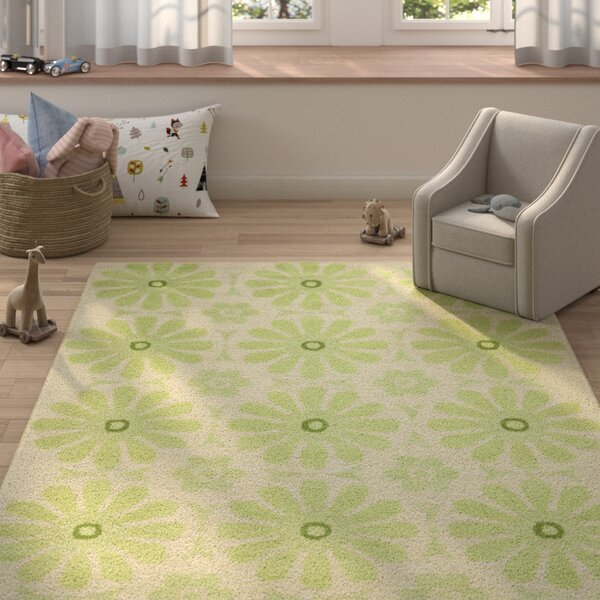 Claro Beige/Green Area Rug by Harriet Bee