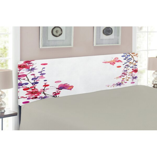 Butterfly Upholstered Panel Headboard by East Urban Home