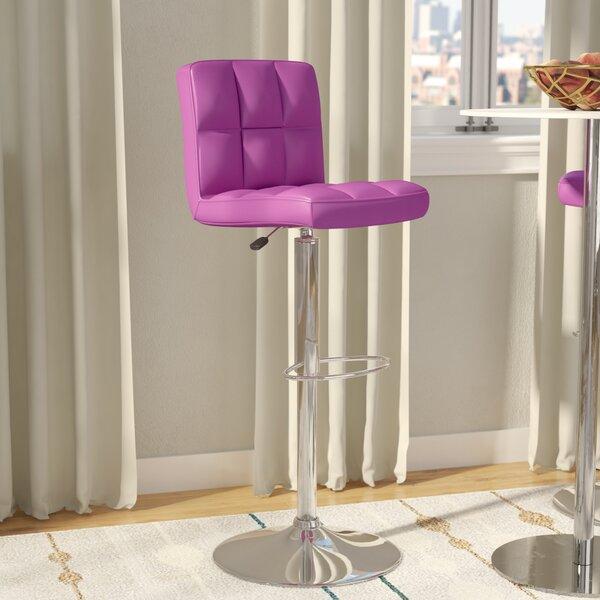 Hirano Adjustable Height Swivel Bar Stool by Zipcode Design