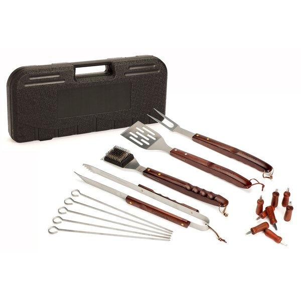Wooden Handle 18-Piece Grilling Tool Set by Cuisinart