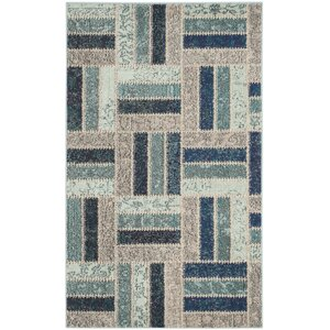 Mercado Gray/Blue Area Rug