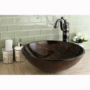 Price Check Fauceture Glass Circular Vessel Bathroom Sink ByKingston Brass