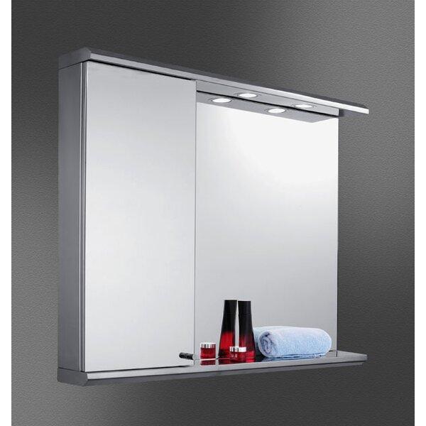 Jimena Edge Mirror Door 28 x 35 Recessed Frameless Medicine Cabinet with 2 Adjustable Shelves and LED Lighting by Orren Ellis
