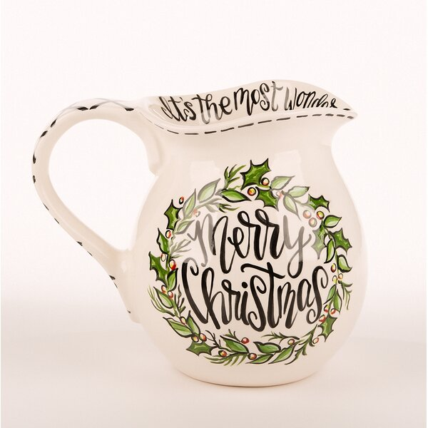 Merry Christmas Water Pitcher by The Holiday Aisle