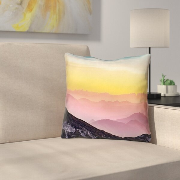 Thang Pastel Landscape Square Outdoor Throw Pillow