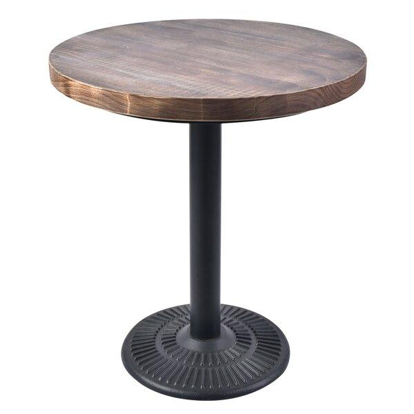 Lincoln Round Iron Bistro Table by Diamond Sofa