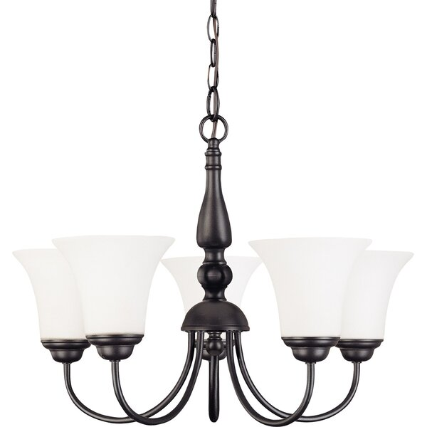 Keown 5 - Light Shaded Classic / Traditional Chandelier By Charlton Home