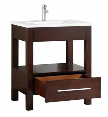 Cowart Vitreous China Top 31 Single Bathroom Vanity Set by Orren Ellis