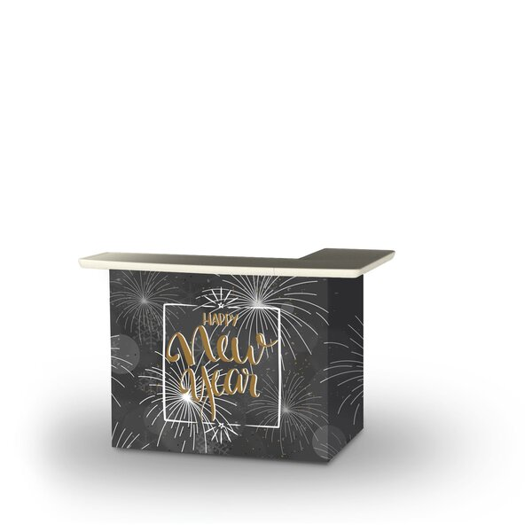 Allenton New Year Fireworks Snowflakes Home Bar by East Urban Home East Urban Home