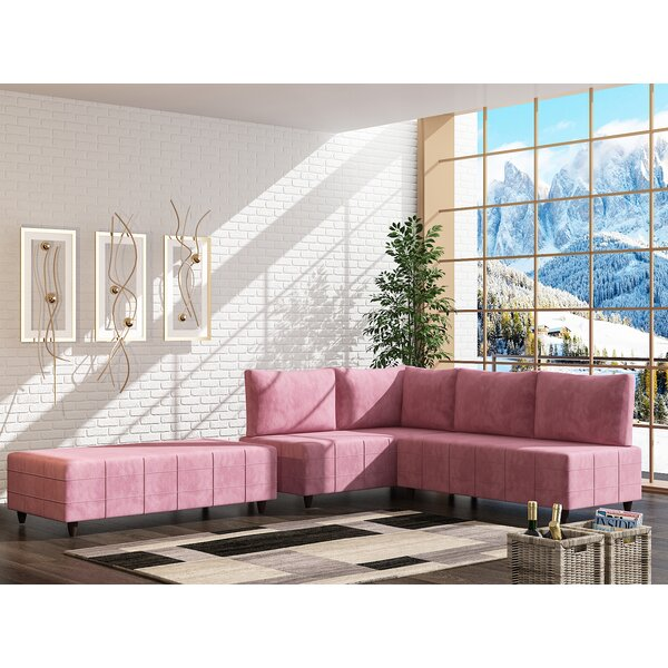 Lowndesboro Reversible Sectional with Ottoman by Orren Ellis