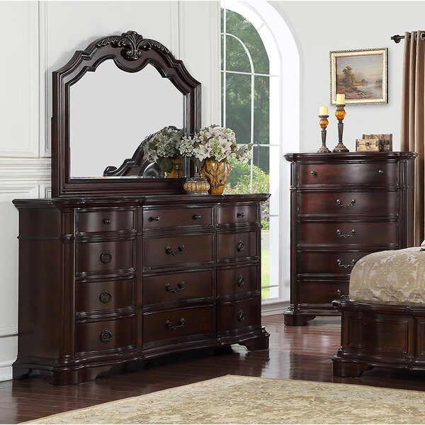 Ziggy 12 Drawer Dresser with Mirror by Astoria Grand