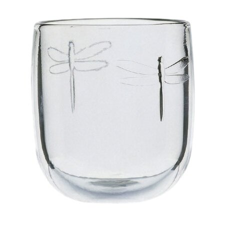 Dragonfly 6 oz. Glass Libellules Mise En Bouche (Set of 6) by La Rochere