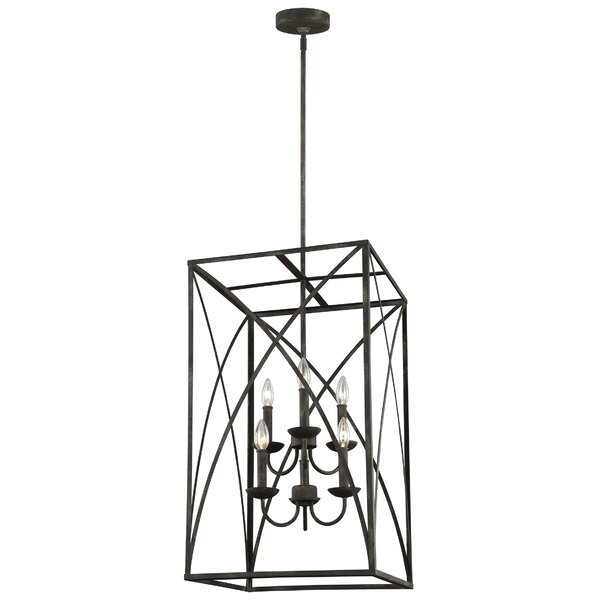 Jalonte 6 - Light Lantern Rectangle Chandelier By Gracie Oaks