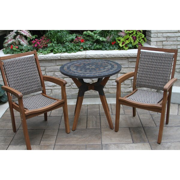 Rhett Slate 3 Piece Bistro Set by Langley Street