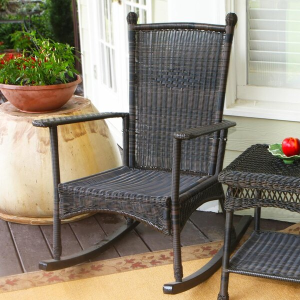 Ray Rocking Chair With Cushions By Alcott Hill by Alcott Hill Best