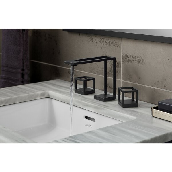 Grid Widespread Bathroom Faucet with Drain Assembly