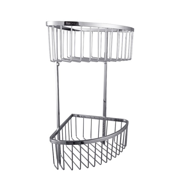 Wall Mount Double Corner Shower Caddy by UCore