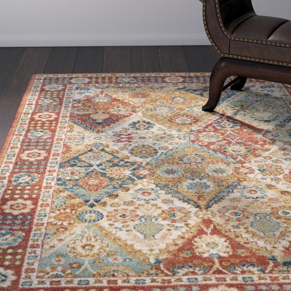 Tayler Traditional Burnt Orange Area Rug by World Menagerie