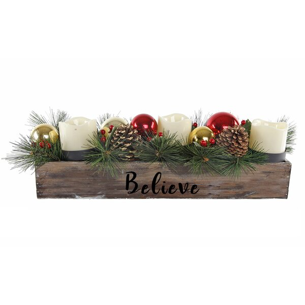 23 Believe Ledge Plastic Candle Holder by The Holiday Aisle