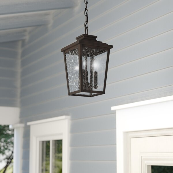 Mayhugh 3-Light Outdoor Hanging Lantern by Three Posts