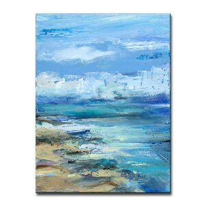 'Coastal Shores' Oil Painting Print on Canvas by Beachcrest Home
