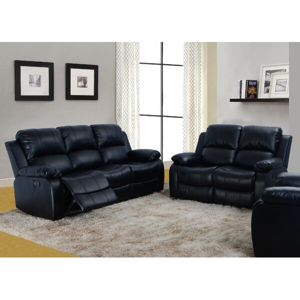 Maumee Reclining 2 Piece Leather Living Room Set by Red Barrel Studio