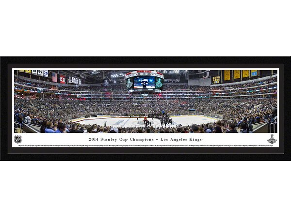 NHL 2014 Stanley Cup Champions - Los Angeles Kings by Christopher Gjevre Framed Photographic Print by Blakeway Worldwide Panoramas, Inc