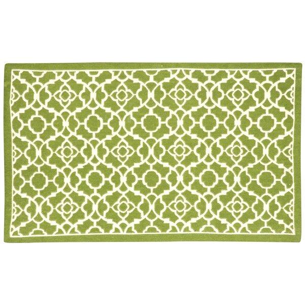 Art House Lovely Lattice Hand-Woven Green Area Rug by Waverly
