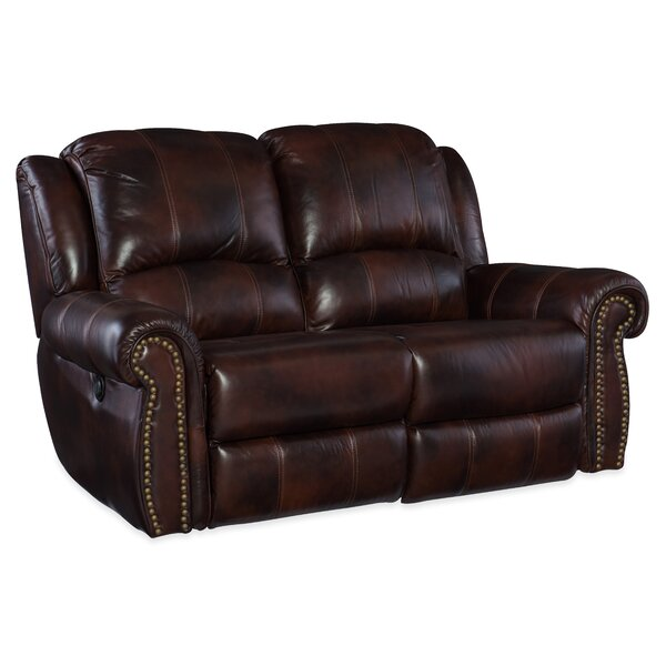 Power Motion Leather Reclining Loveseat by Hooker Furniture