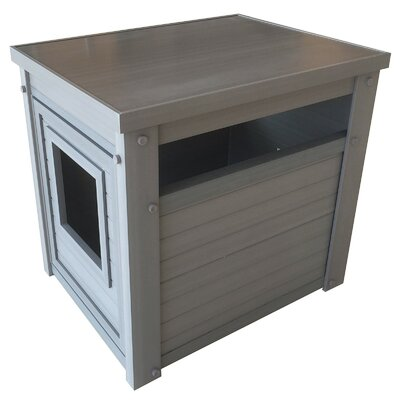 Ginny Jumbo Litter Box Enclosure Color: Gray