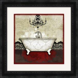 Red Bath I Framed Graphic Art by PTM Images