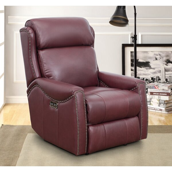 Brockett Leather Power Recliner [Red Barrel Studio]