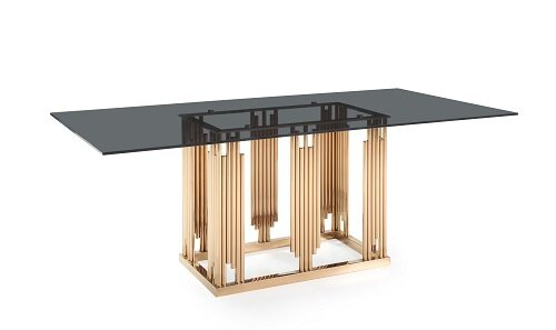 Larena Glass and Dining Table by Everly Quinn