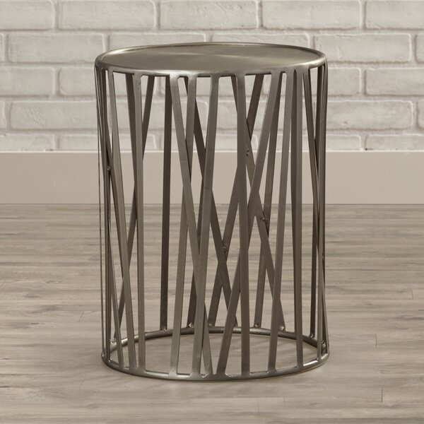 Kori Drum End Table by 17 Stories