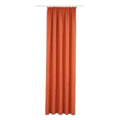 Siglerville Pencil Pleat Blackout Thermal Curtain Ophelia and Co. Colour: Terra, Panel Size: Width 132cm x Drop 145cm
