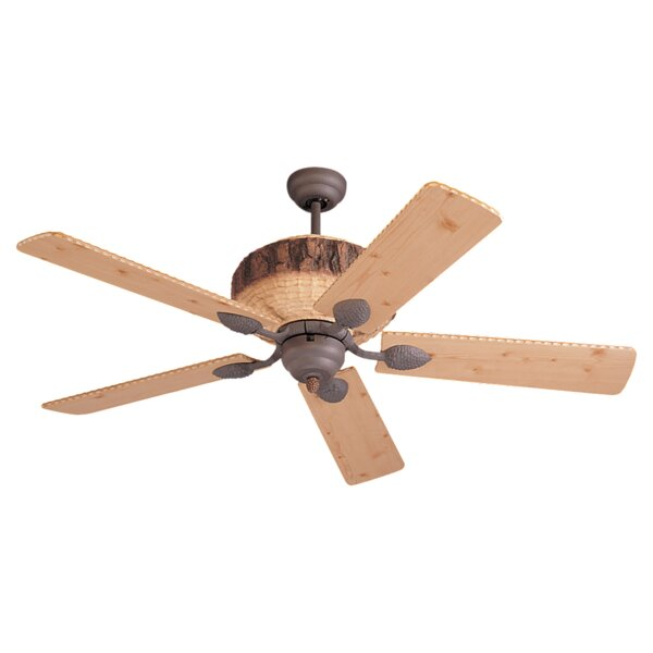 52 Elvina Pine 5 Blade Ceiling Fan by Darby Home Co