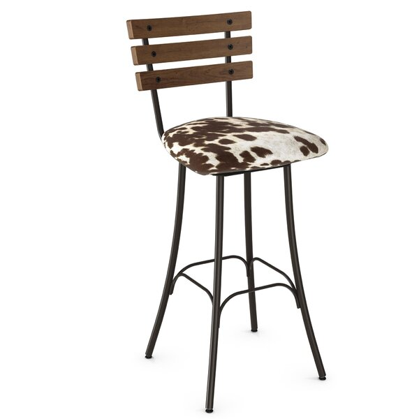 Rachelle 30.75 Metal Swivel Bar Stool by Trent Austin Design