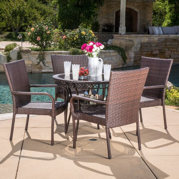 Donato 5 Piece Dining Set by Rosecliff Heights