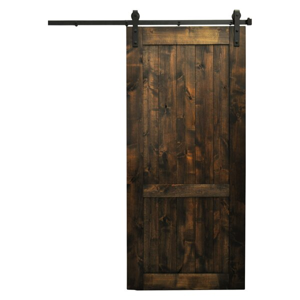 Hoboken Wood 1-Panel Interior Barn Door by Laurel Foundry Modern Farmhouse