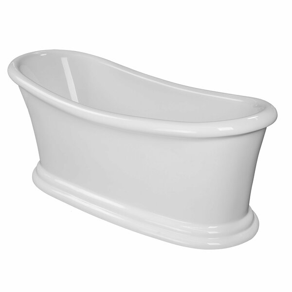 Ella 68 x 29 Freestanding Soaking Bathtub by Maykke
